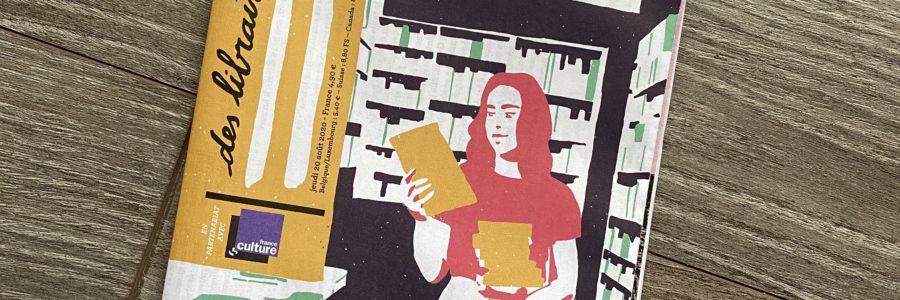 couverture du 1 des libraires septembre 2020, illustration représentant une libraire