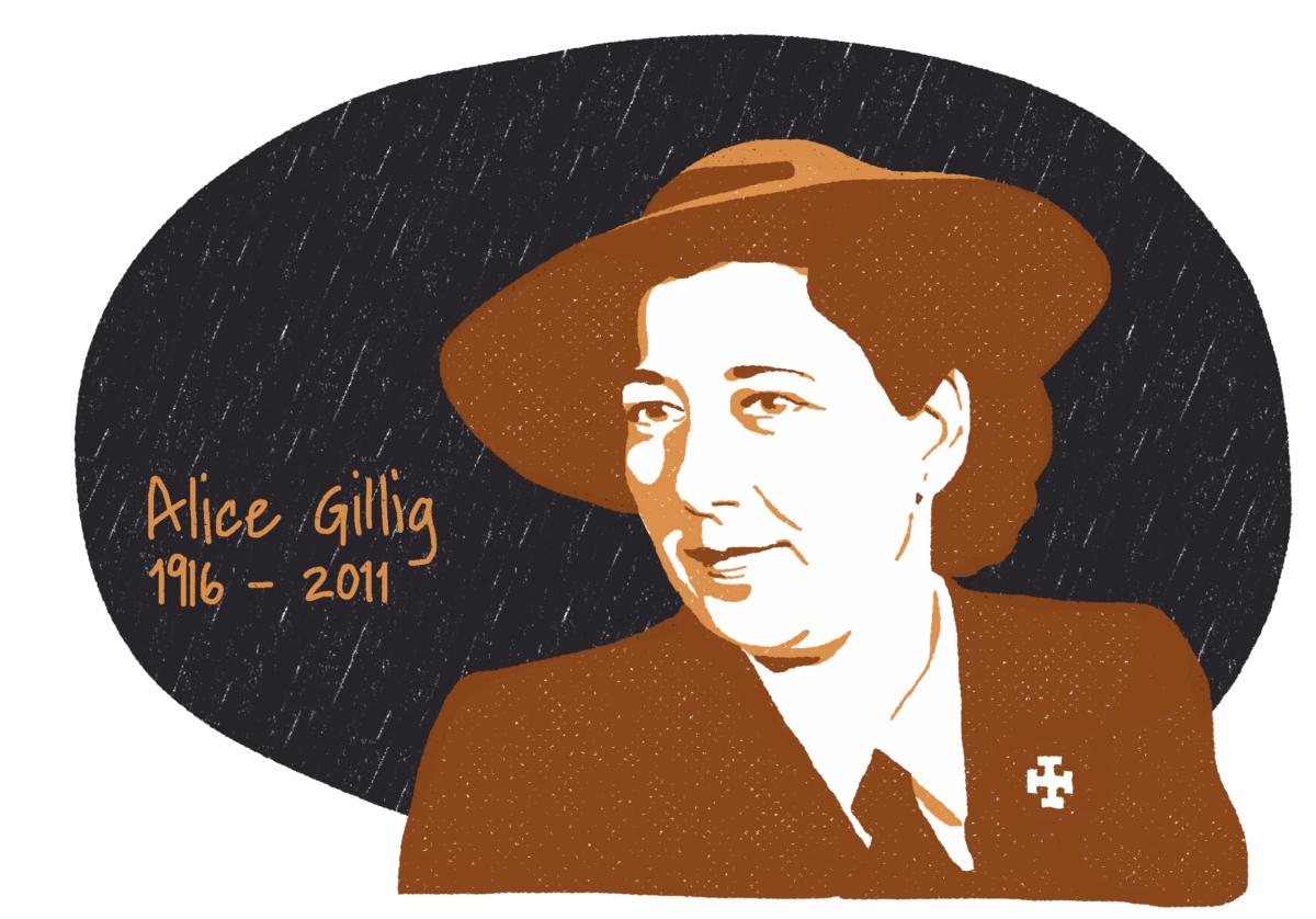 Portrait d'Alice Gillig, femme de la Résistance