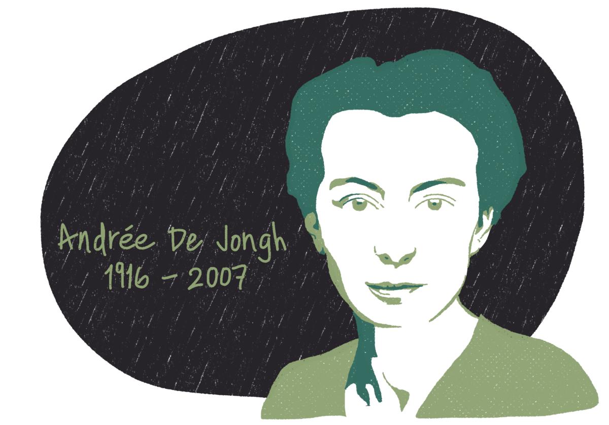 Portrait d'Andrée De Jongh, femme de la Résistance