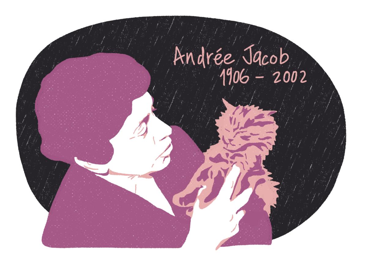 Portrait d'Andrée Jacob, femme de la Résistance