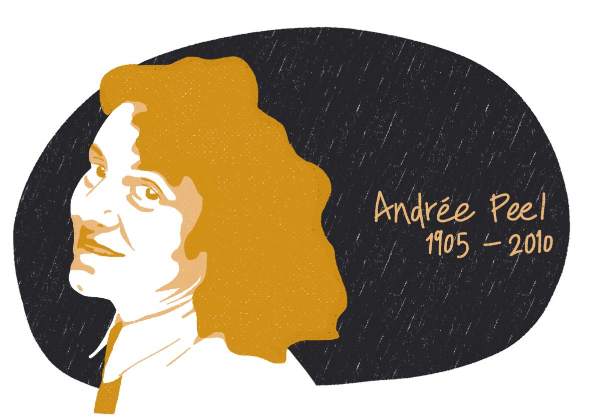 Portrait d'Andrée Peel, femme de la Résistance