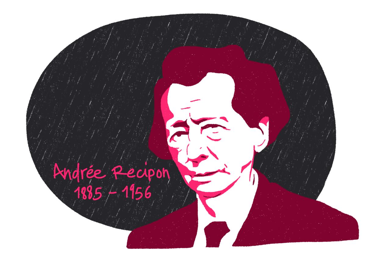 Portrait d'Andrée Recipon, femme de la Résistance