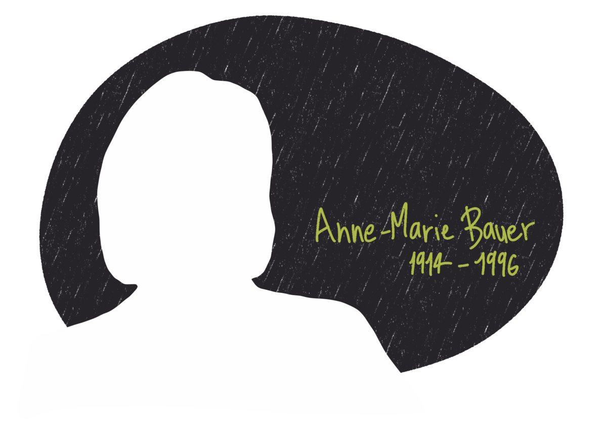Portrait d'Anne-Marie Bauer, femme de la Résistance