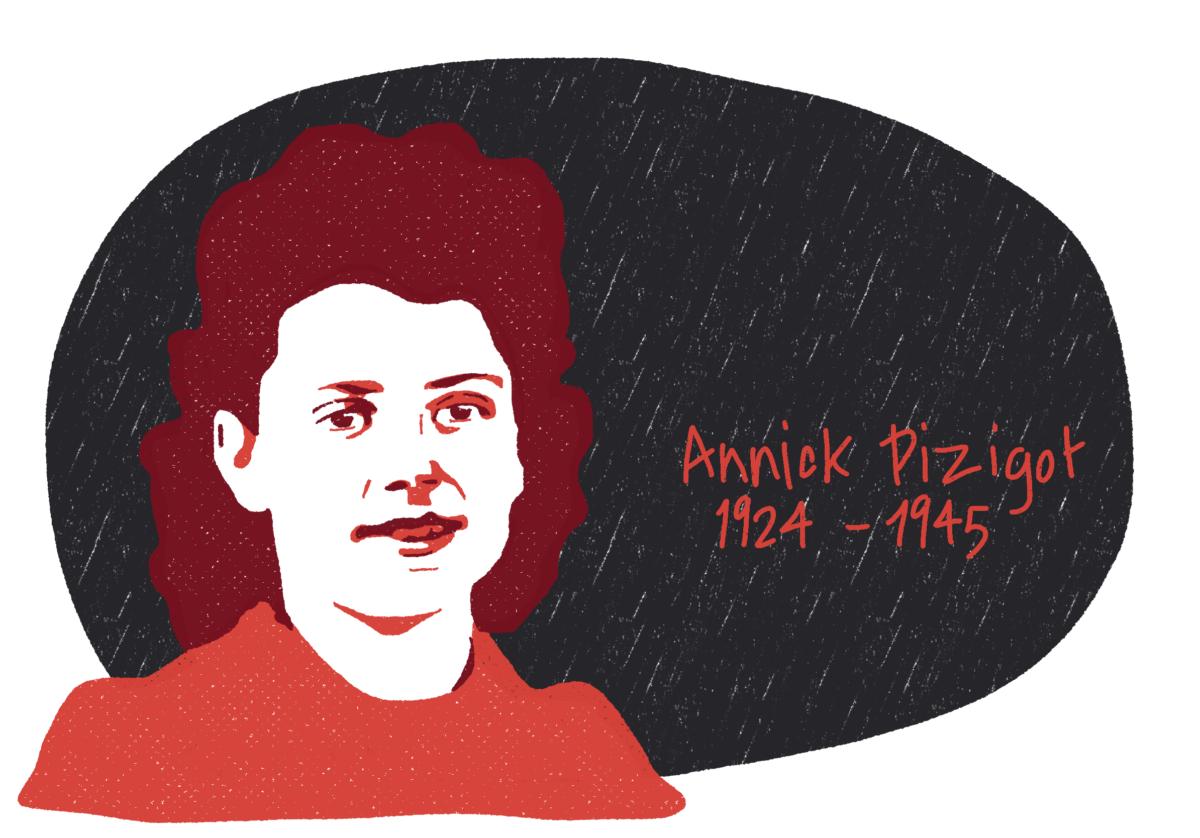 Portrait d'Annick Pizigot, femme de la Résistance