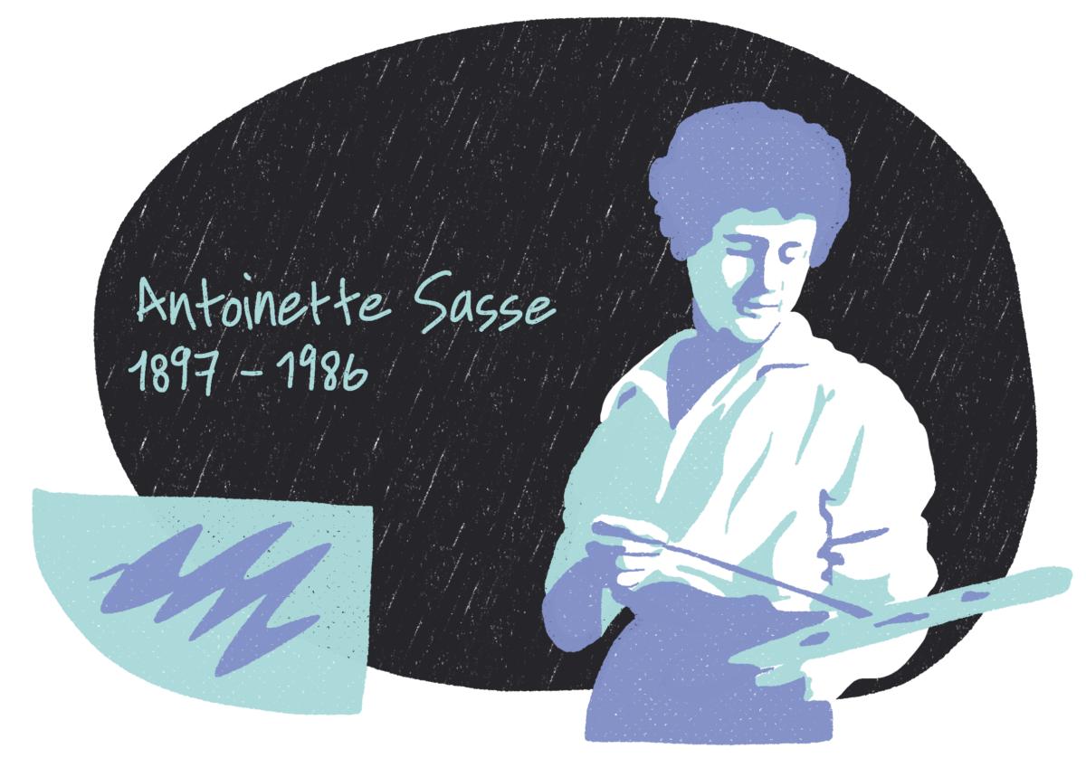 Portrait d'Antoinette Sasse, femme de la Résistance