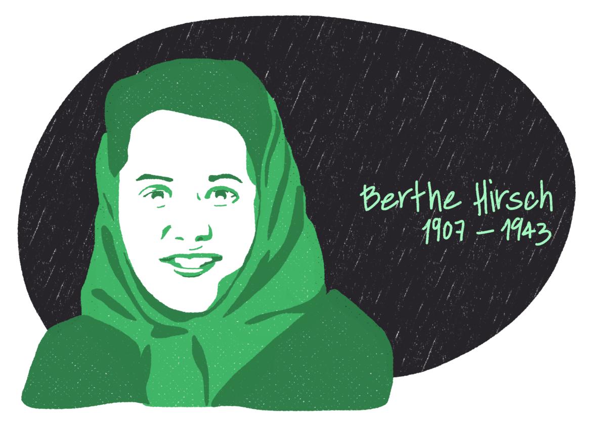 Portrait de Berthe Hirsch, femme de la Résistance