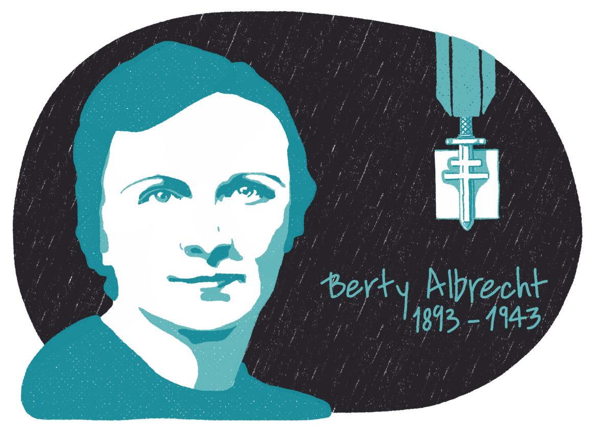 Portrait de Berty Albrecht, femme de la Résistance