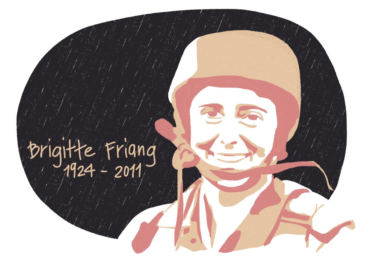 Portrait de Brigitte Friang, femme de la Résistance