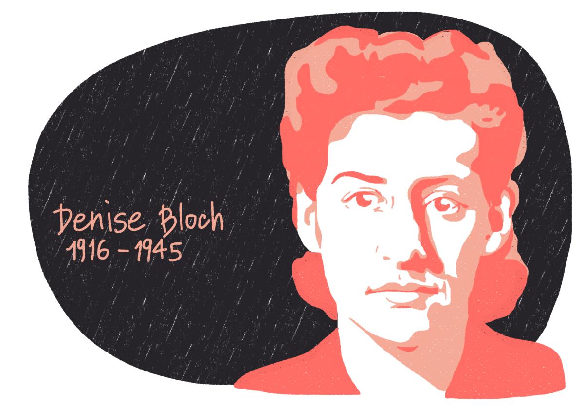 Portrait de Denise Bloch, femme de la Résistance