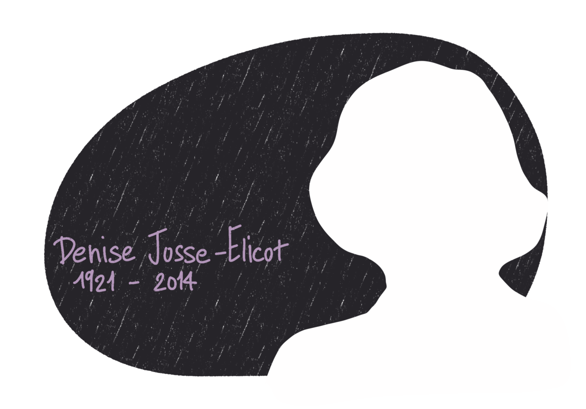 Portrait de Denise Josse-Elicot, femme de la Résistance