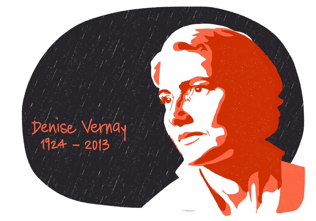 Portrait de Denise Vernay, femme de la Résistance