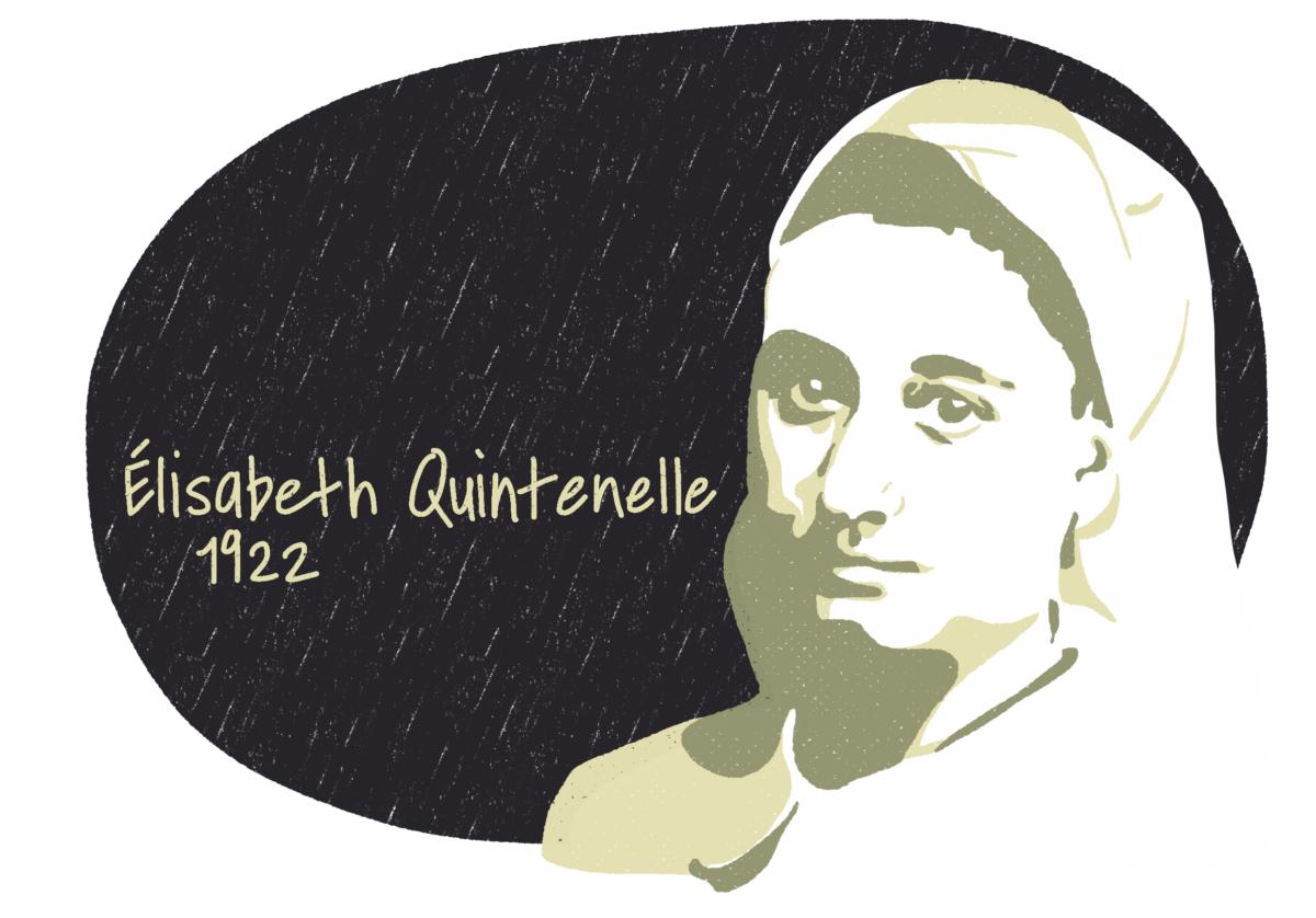 Portrait d'Élisabeth Quintenelle, femme de la Résistance