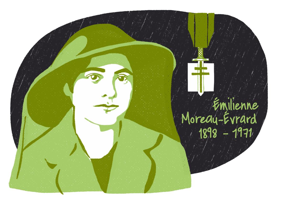 Portrait d'Émilienne Moreau-Évrard, femme de la Résistance