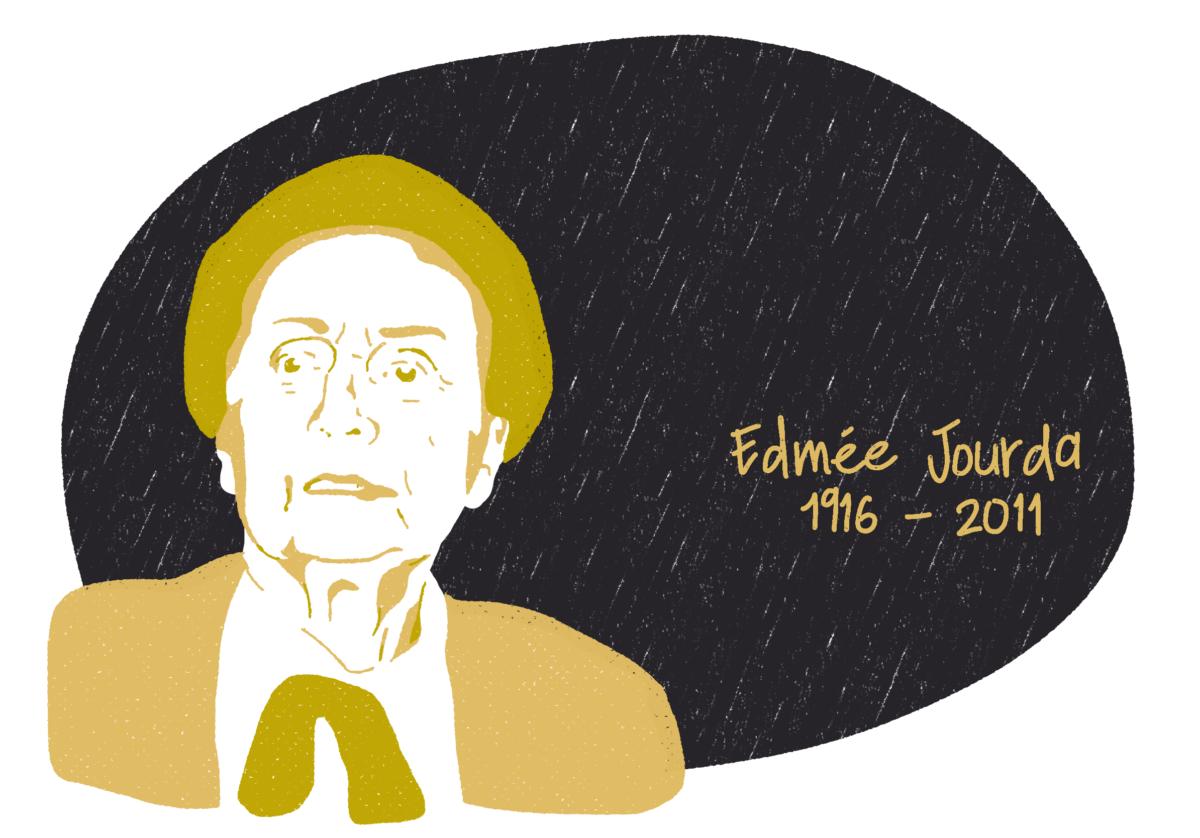 Portrait d'Edmée Jourda, femme de la Résistance