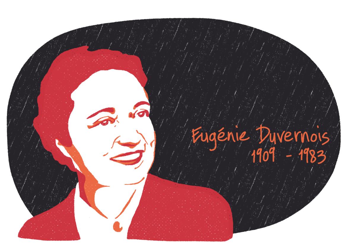 Portrait d'Eugénie Duvernois, femme de la Résistance