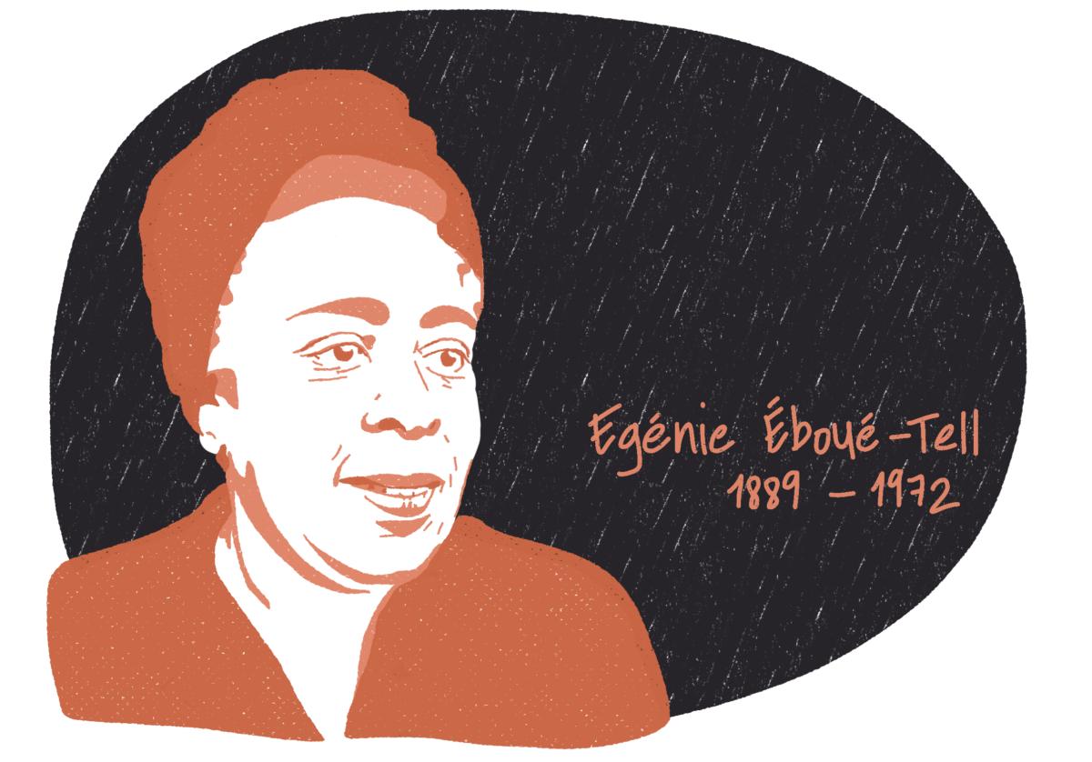 Portrait d'Eugénie Éboué-Tell, femme de la Résistance
