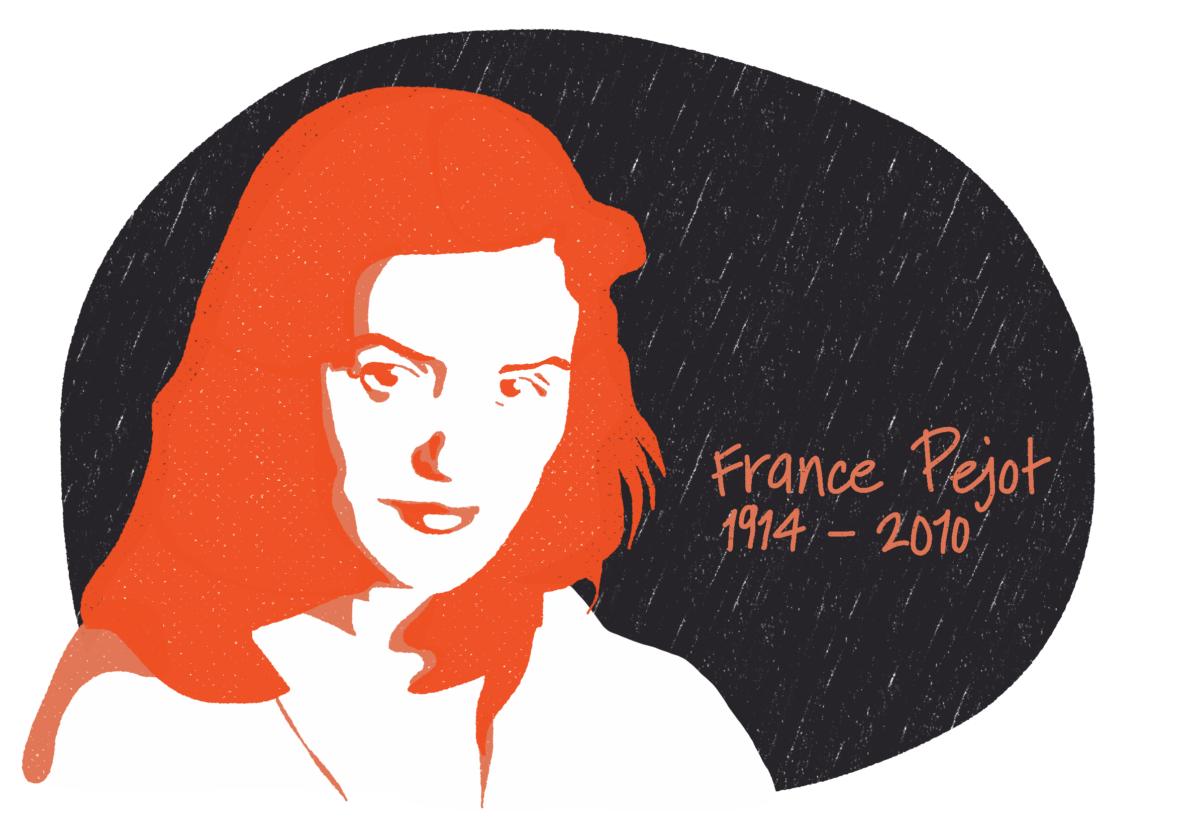 Portrait de France Pejot, femme de la Résistance