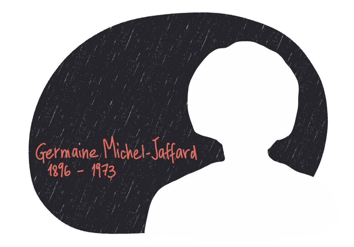Portrait de Germaine Michel-Jaffard, femme de la Résistance