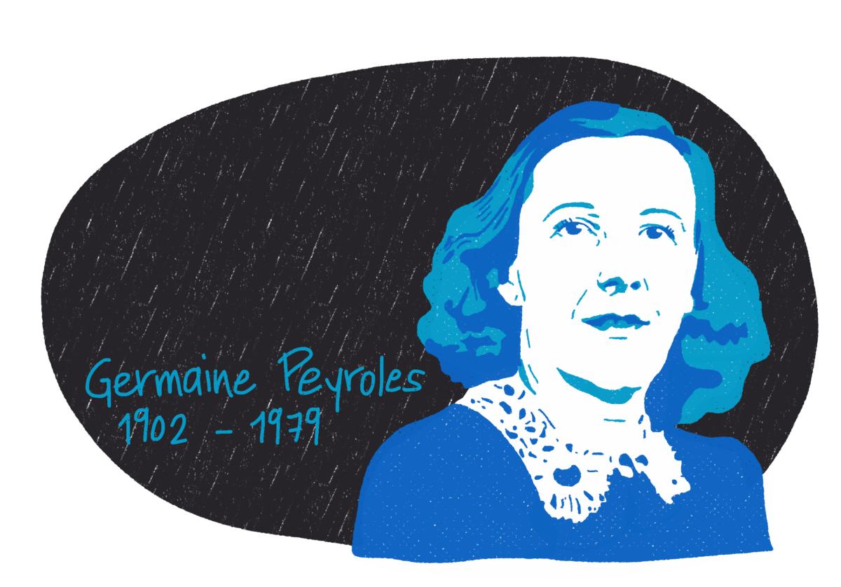 Portrait de Germaine Peyroles, femme de la Résistance