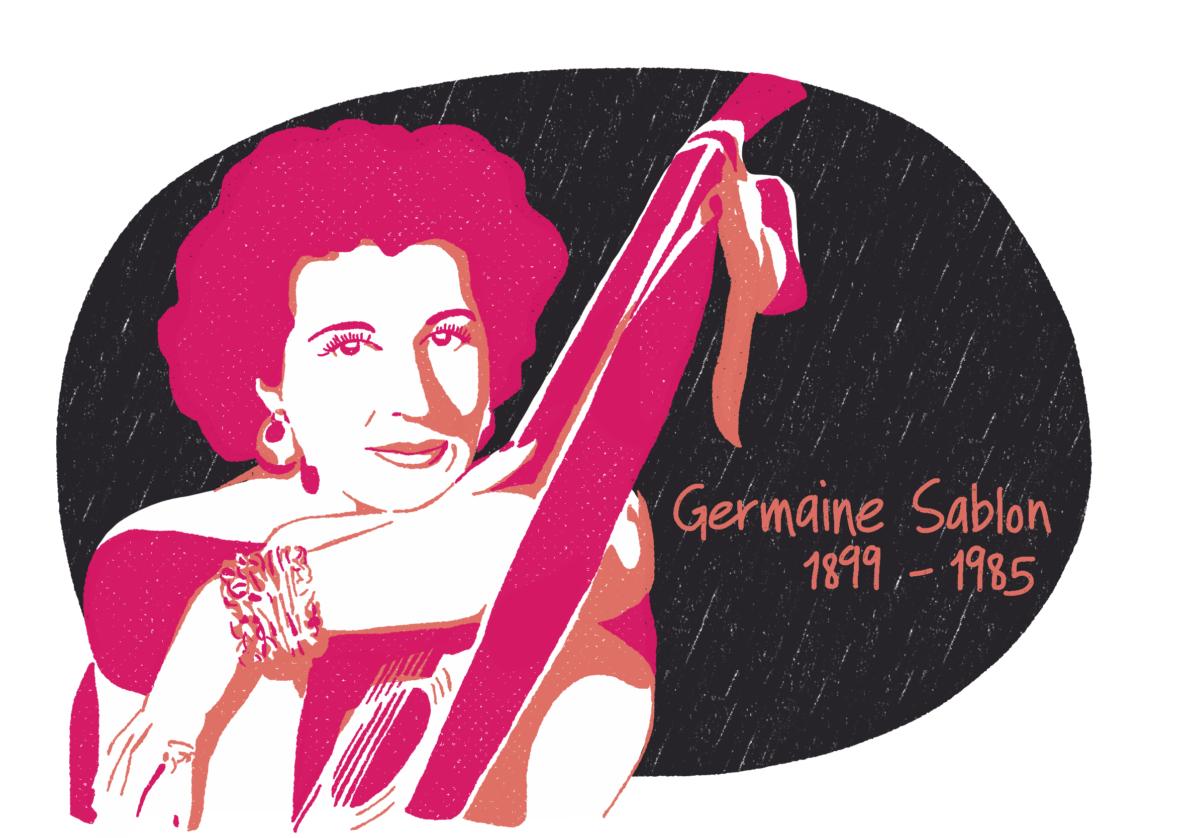 Portrait de Germaine Sablon, femme de la Résistance