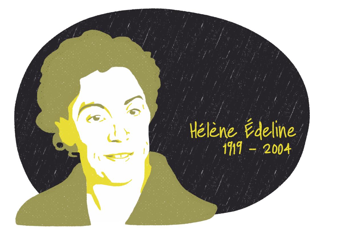 Portrait de Hélène Édeline, femme de la Résistance