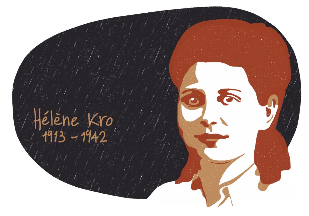 Portrait de Hélène Kro, femme de la Résistance