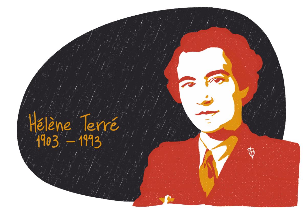 Portrait de Hélène Terré, femme de la Résistance