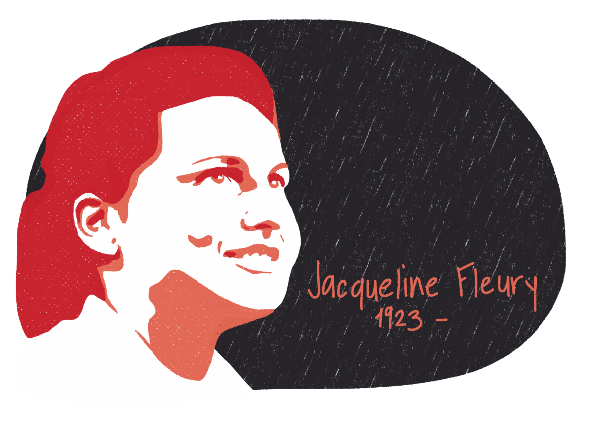 Portrait de Jacqueline Fleury, femme de la Résistance