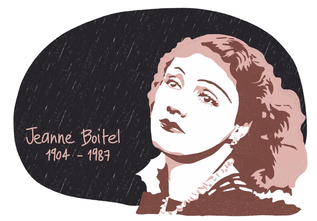 Portrait de Jeanne Boitel, femme de la Résistance