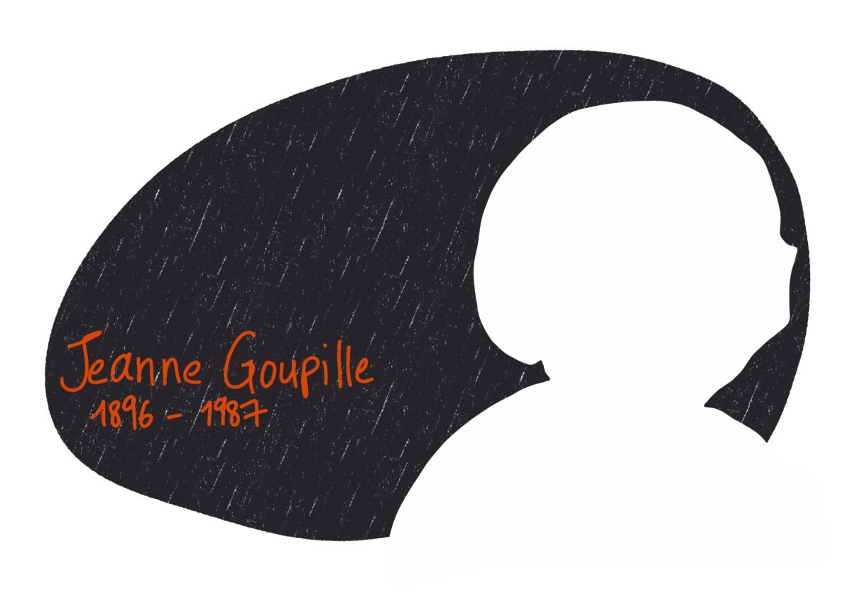 Portrait de Jeanne Goupille, femme de la Résistance