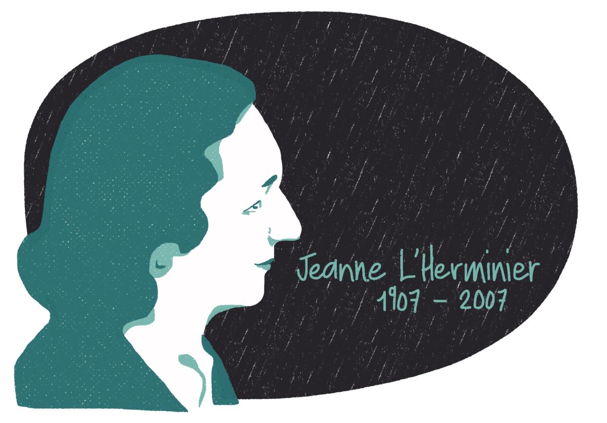 Portrait de Jeanne L'Herminier, femme de la Résistance