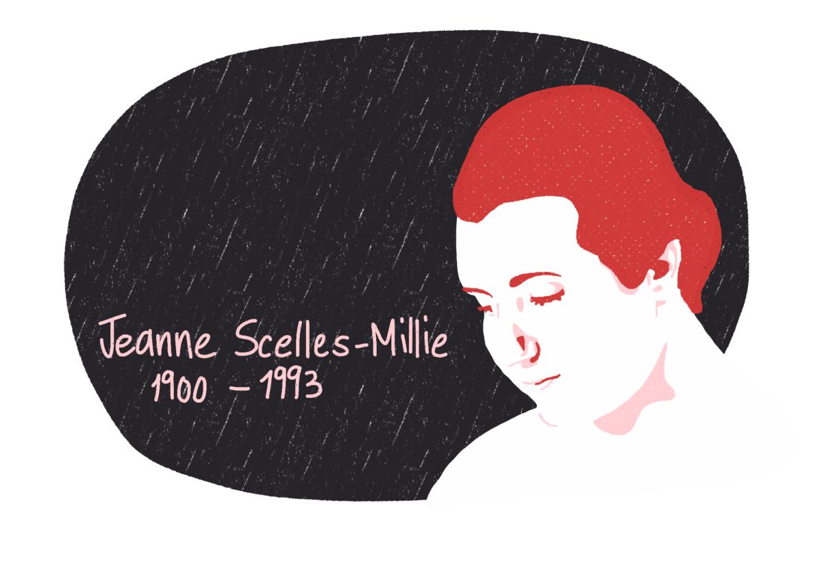 Portrait de Jeanne Scelles-Millie, femme de la Résistance