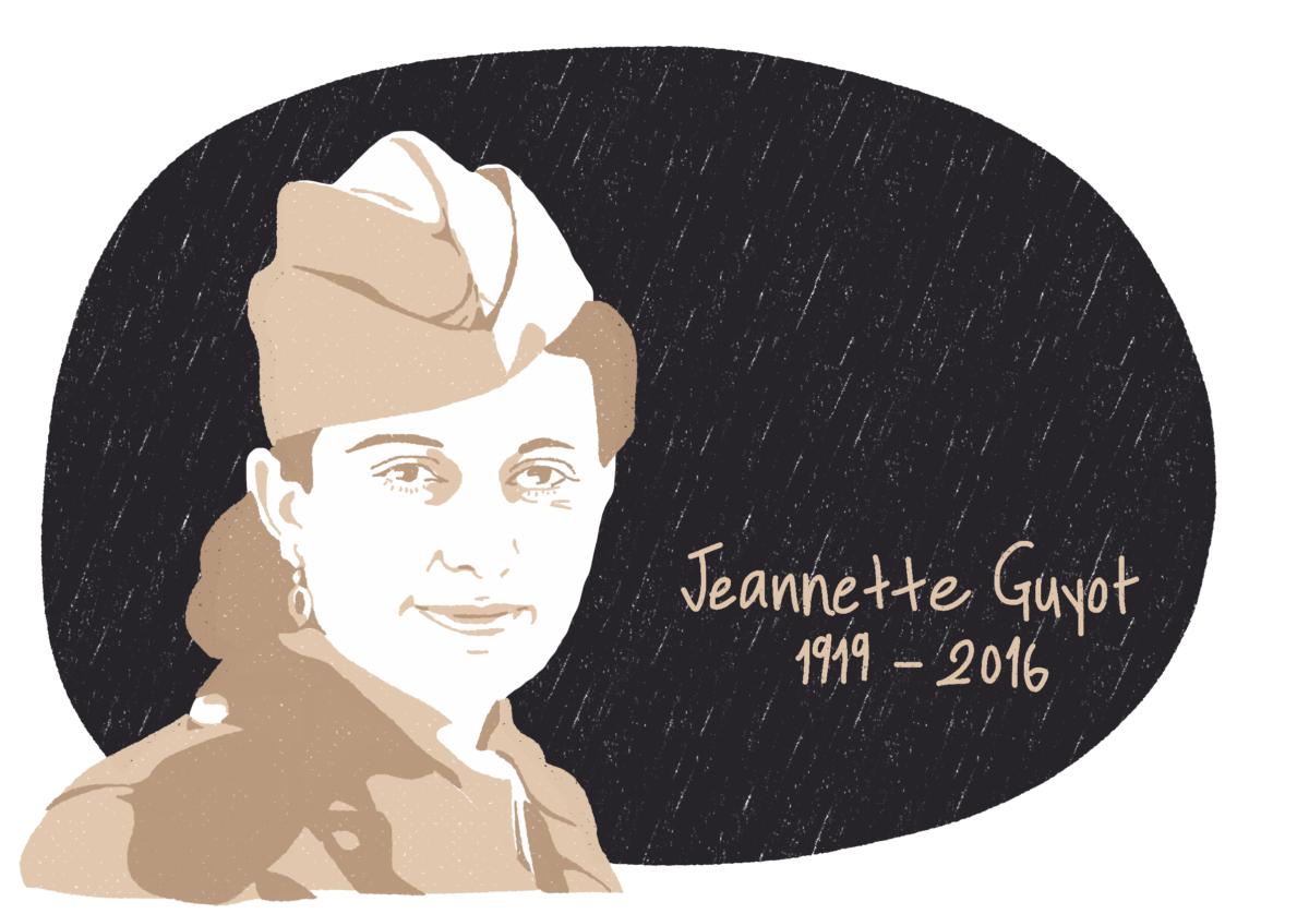 Portrait de Jeannette Guyot, femme de la Résistance