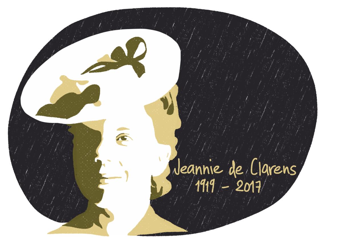 Portrait de Jeannie de Clarens, femme de la Résistance