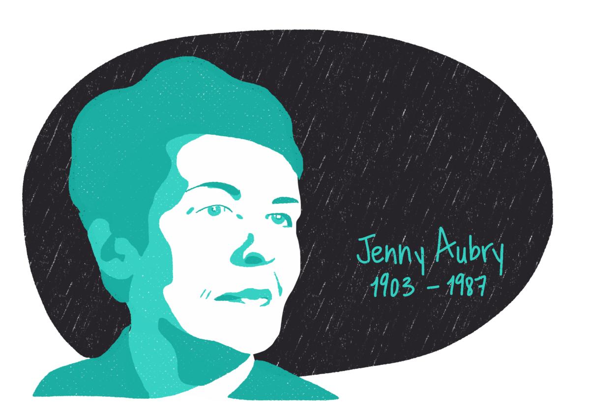 Portrait de Jenny Aubry, femme de la Résistance