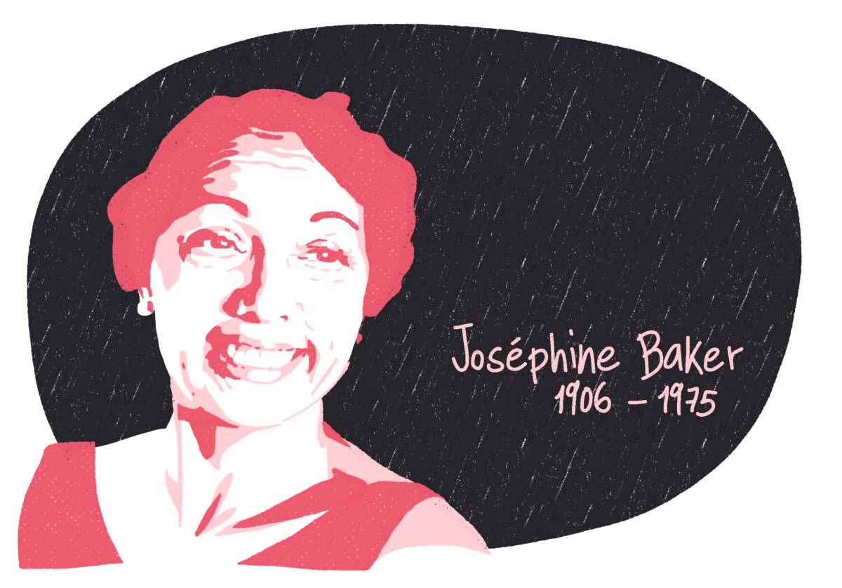 Portrait de Joséphine Baker, femme de la Résistance