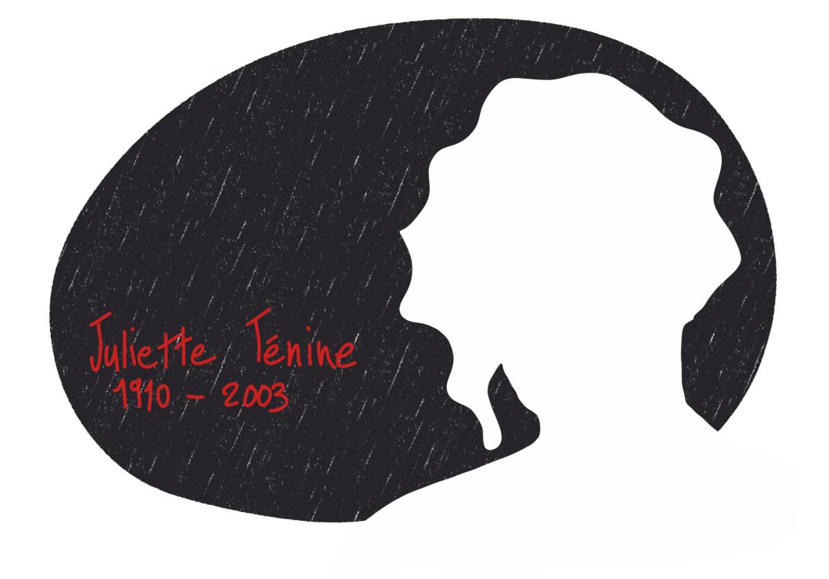 Portrait de Juliette Ténine, femme de la Résistance