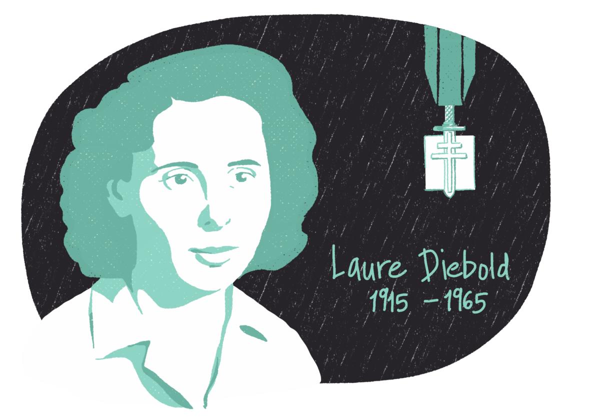Portrait de Laure Diebold, femme de la Résistance