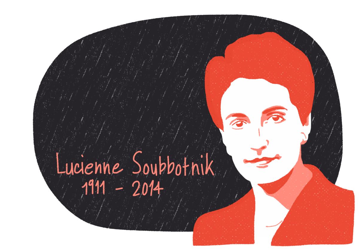 Portrait de Lucienne Soubbotnik, femme de la Résistance