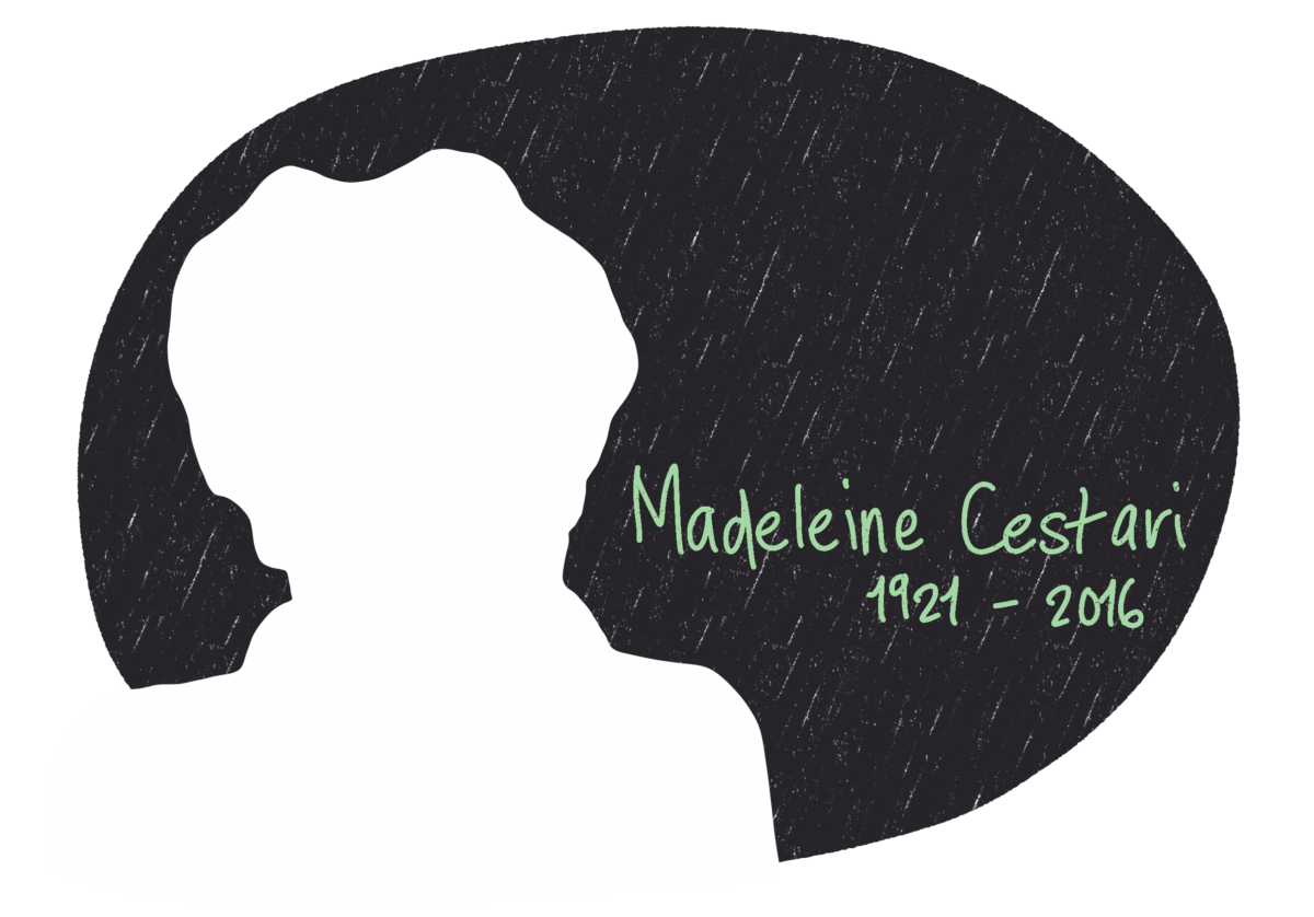 Portrait de Madeleine Cestari, femme de la Résistance