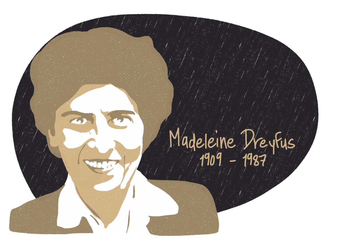 Portrait de Madeleine Dreyfus, femme de la Résistance
