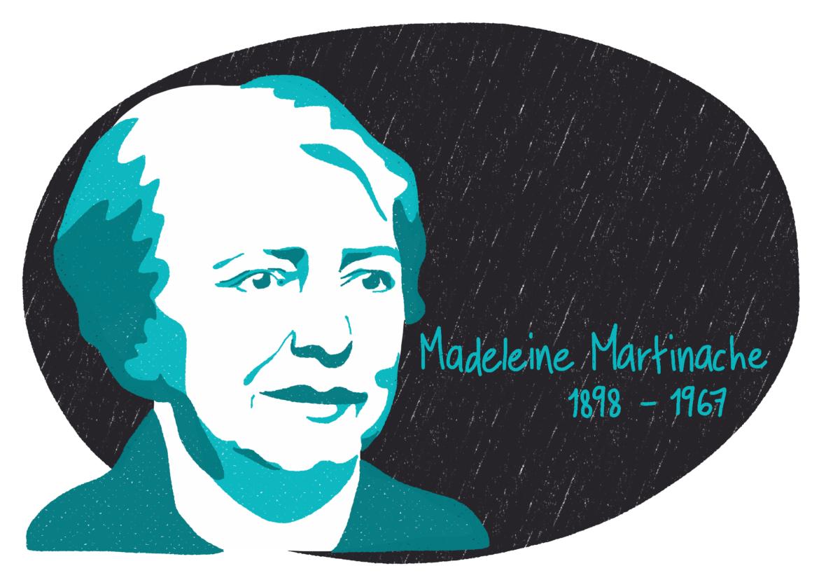 Portrait de Madeleine Martinache, femme de la Résistance