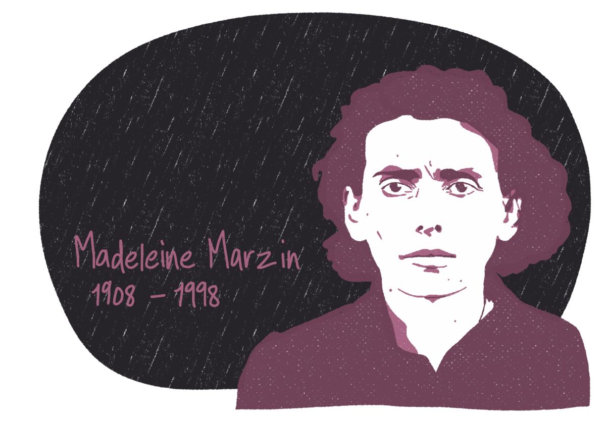 Portrait de Madeleine Marzin, femme de la Résistance