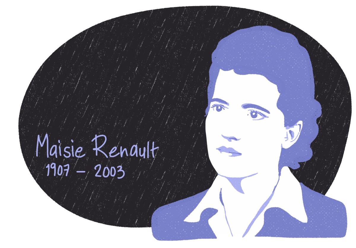 Portrait de Maisie Renault, femme de la Résistance