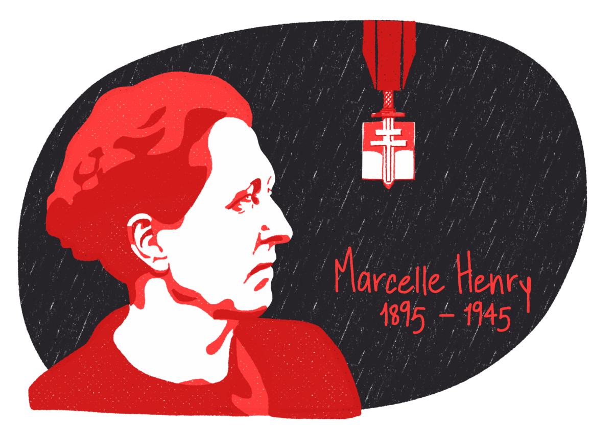 Portrait de Marcelle Henry, femme de la Résistance