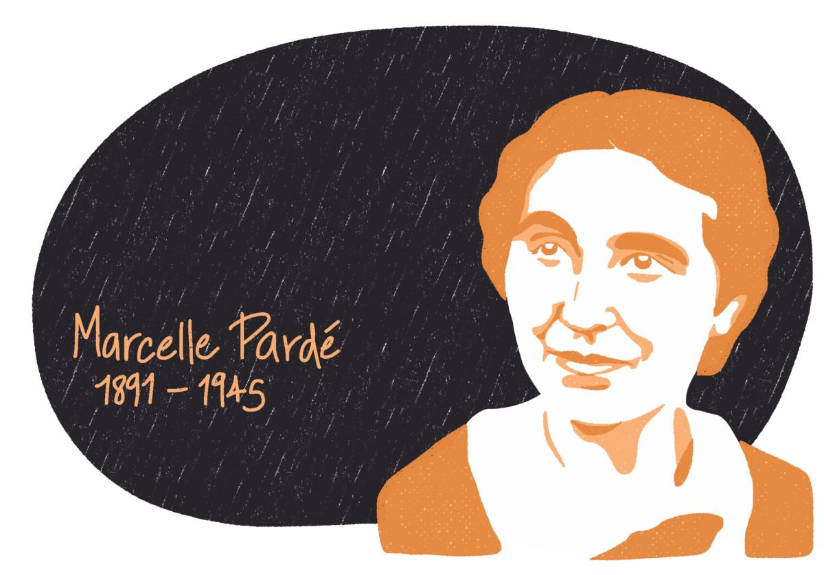 Portrait de Marcelle Pardé, femme de la Résistance
