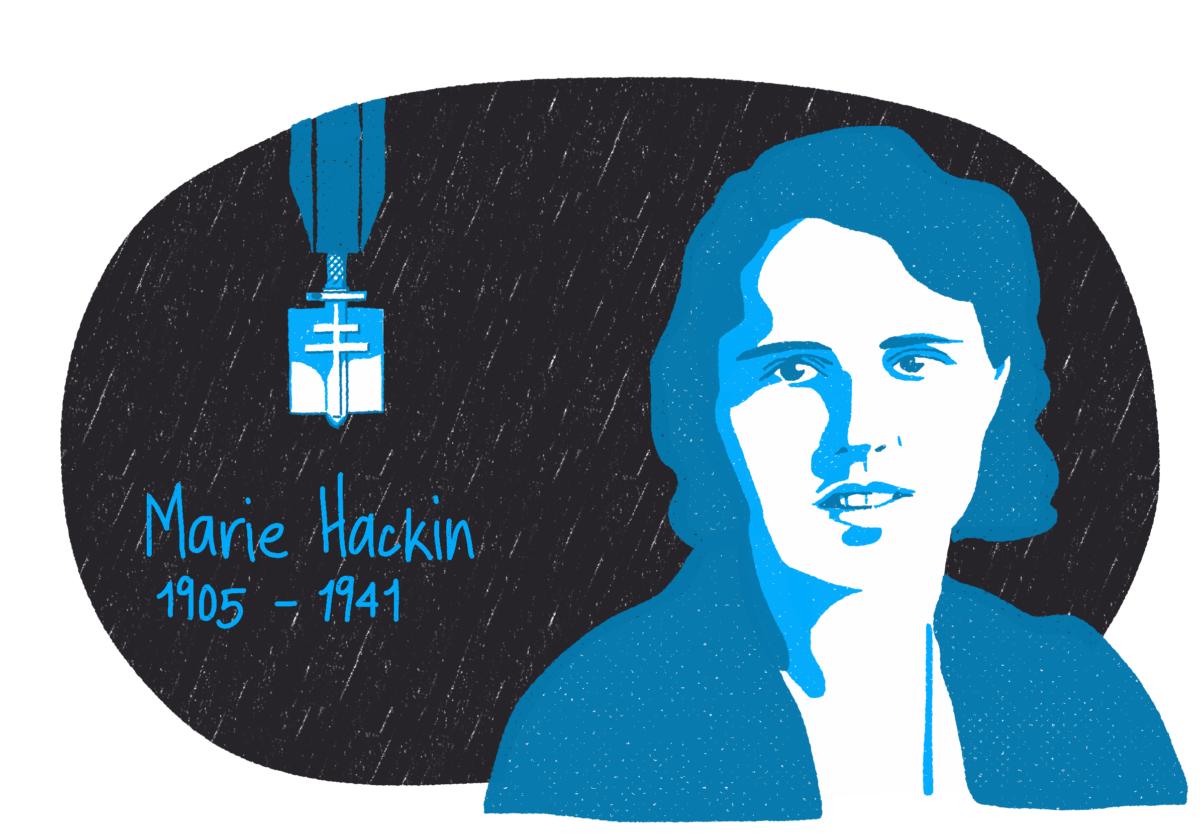 Portrait de Marie Hackin, femme de la Résistance