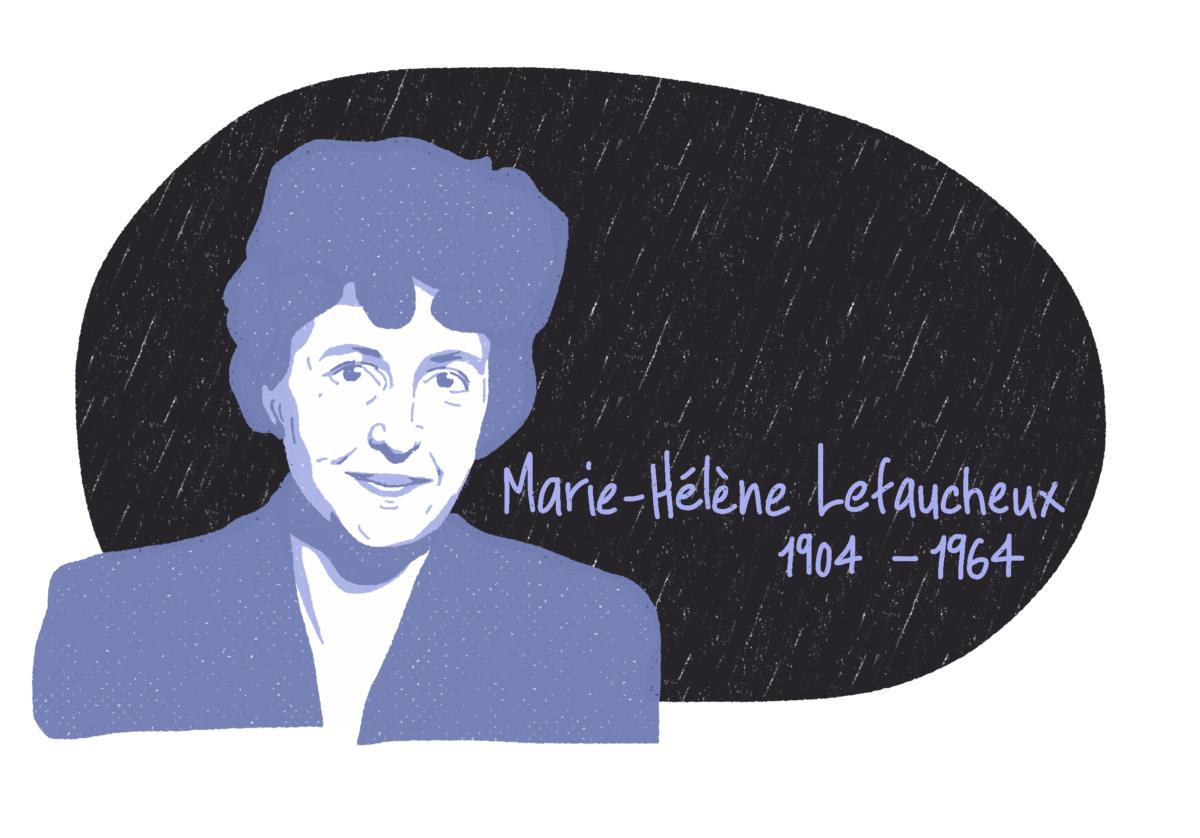 Portrait de Marie-Hélène Lefaucheux, femme de la Résistance