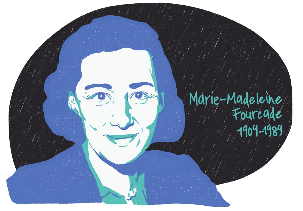 Portrait de Marie-Madeleine Fourcade, femme de la Résistance