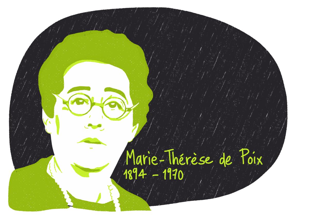Portrait de Marie-Thérèse de Poix, femme de la Résistance